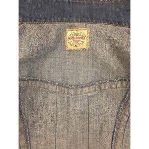 Jackets & Coats - New Cropped Denim Jacket Size XL